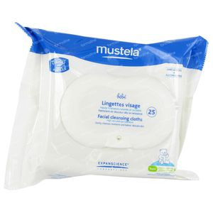 Mustela Baby Facial Cleansing Cloths 25 pieces