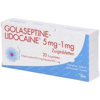 Golaseptine-Lidocaine 20  zuigtabletten