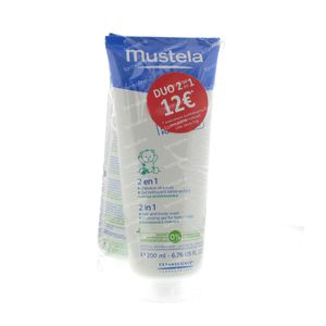Mustela 2-in-1 Hair and Body Wash Duopack Reduced Price 400 ml