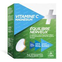Nutrisanté Vitamine C+Magnesium 24  kauwtabletten