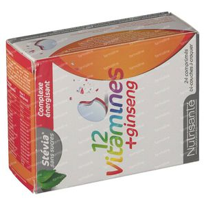 Nutrisanté 12 Vitamines + Ginsgeng Tube 24 St Effervescent tablets