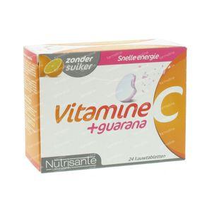 Nutrisanté Vitamine C+Guarana 24 St Compresse masticabili