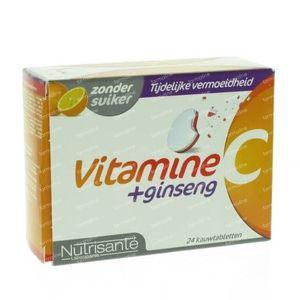Nutrisanté Vitamine C + Ginseng 24 comprimés à croquer