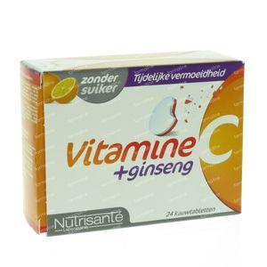 Nutrisanté Vitamine C + Ginseng 24 St Comprimés à croquer