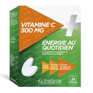 Nutrisanté Vitamine C+ 500mg 24 chewing tablets