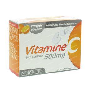 Nutrisanté Vitamine C 500mg Effervescent 24 St Effervescent tablets