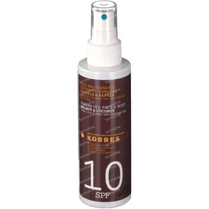 Korres Suntan Olie Face & Body Walnut & Coconut SPF10 150 ml