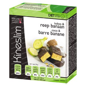 Kineslim Reep Kokos/Banaan 4 St
