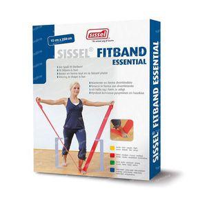 Sissel Fitband Essential 15cm x 2,5m Medium Red 1 pezzo