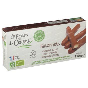 Celiane Chocolat Lait Barre Bio 130 g