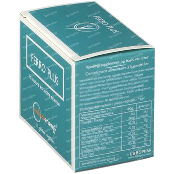 Natural Energy Ferro Plus 30 capsules
