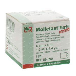 Mollelast Haft Dressing Adhesive lf 4cmx4m 89590 1 St