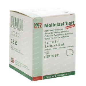 Mollelast Haft Dressing Adhesive Latex Free 6cmx4m 89591 1 pezzo