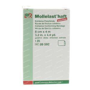 Mollelast haft Dressing Adhesive lf 8cmx4m 89592 1 St