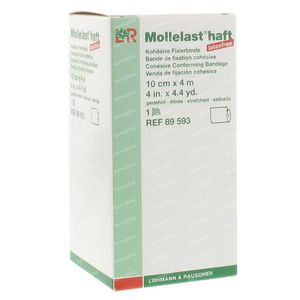 Mollelast Haft Dressing Adhesive lf 10cmx4m 89593 1 St