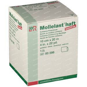 Mollelast Haft Verband Adhesive Latex Free 10cm x 20m 89598 1 st