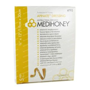 Medihoney Anti-Bacterial Wound Dressing 2cm x 30cm 5 pieces