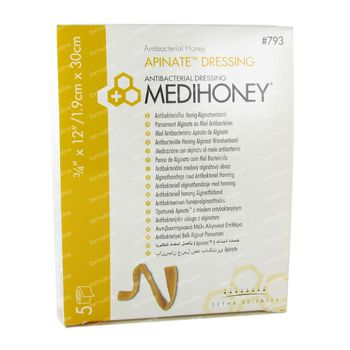 Medihoney Pansement Anti-Bacterien 2cm x 30cm 5 pièces