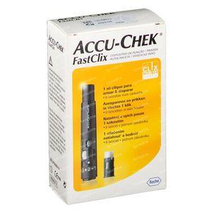 Accu-Chek FastClix Prikpen + 6 Lancetten 1 set