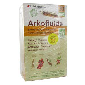 Arkofluide Stimulans Physiques + Intellect 40 ampoules