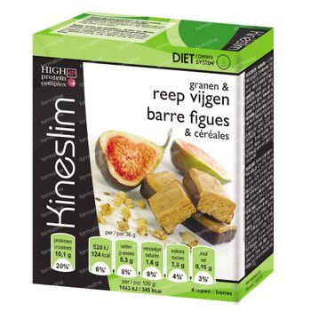 Kineslim Barre Cereals & Figues 4 pièces