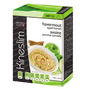 Kineslim Ontbijt Havermout Appel/Kaneel 4 zakjes