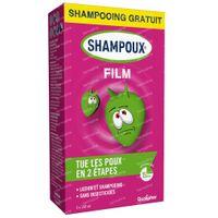 Shampoux Film Anti-Luizen met Siliconen (Lotion + GRATIS Shampoo) 2x150 ml