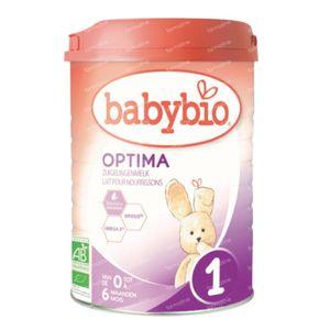Babybio Optima 1 Lait de Suite 0-6 Mois 900 g