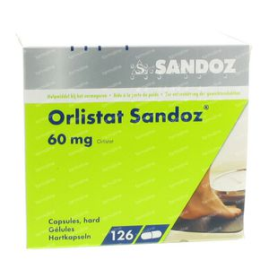 Orlistat Sandoz 60mg 126 capsules
