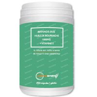 Natural Energy Huile de Bourrache 1000mg + Vitamine E 250  capsules