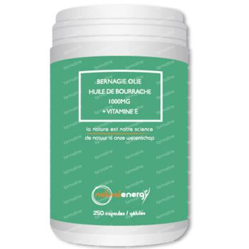 Natural Energy Borretsch-Öl 1000mg + Vitamin E 250 kapseln