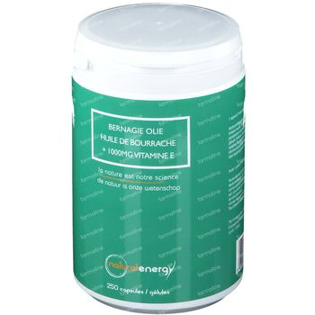 Natural Energy Bernagie Olie 1000mg + Vitamine E 250 capsules