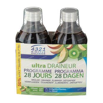 4321 Minceur Draineur Pomme-Kiwi Duo Promo 560 ml bouteilles