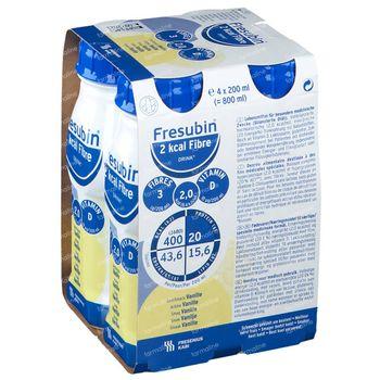Fresubin 2 Kcal Fibre Drink Vanille 4x200 ml