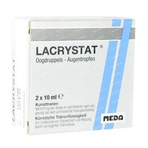 Lacrystat Eyedrops Flacons 20 ml vials