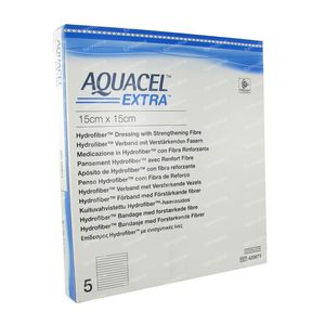 Aquacel Extra 15x15cm 5 pieces