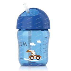 Avent Gobelet Anti-Vide + Paille 12 Mois 260 ml