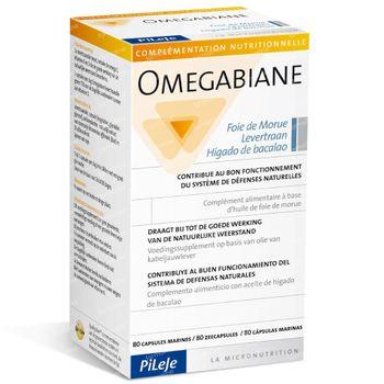 Omegabiane levertraan 80 capsules
