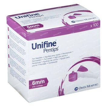 Unifine Aiguille Stérile 31G 6 Mm An3590 100 st