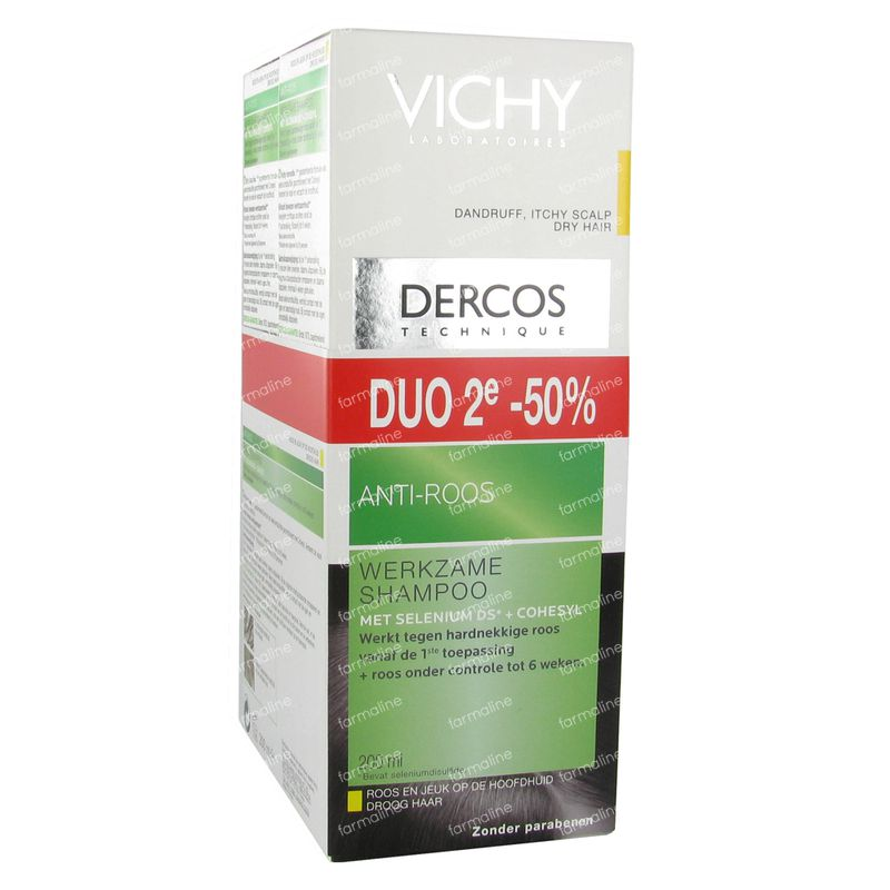 vichy dercos shampooing anti pelliculaire cheveux secs promo 2i me 50 400 ml commander ici en. Black Bedroom Furniture Sets. Home Design Ideas
