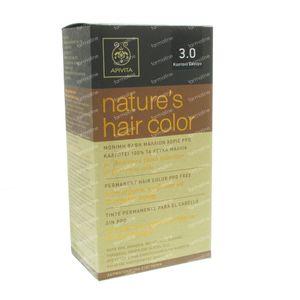 Apivita Natuurlijke Haarkleuring N3.0 Donker Bruin 1 stuk