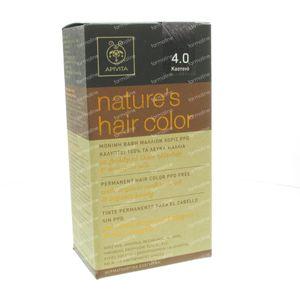 Apivita Natuurlijke Haarkleuring N4.0 Bruin 1 stuk
