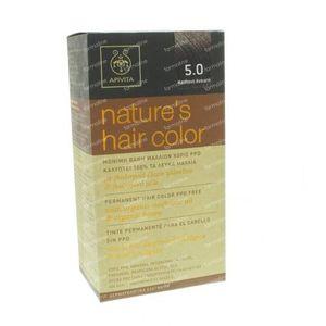 Apivita Natuurlijke Haarkleuring N5.0 Licht Bruin 1 stuk