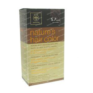 Apivita Natuurlijke Haarkleuring N5.7 Licht Bruin Beige 1 St
