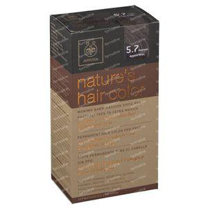 Apivita Natuurlijke Haarkleuring N5.7 Licht Bruin Beige 1 stuk