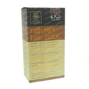 Apivita Natuurlijke Haarkleuring N6.7 Donker Blond Beige 1 St