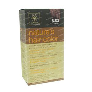 Apivita Natuurlijke Haarkleuring N5.03 Chocolade 1 St