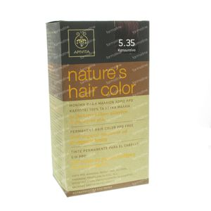 Apivita Natuurlijke Haarkleuring N5.35 Cappuccino 1 St