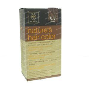 Apivita Natuurlijke Haarkleuring N6.3 Walnoot 1 stuk