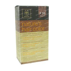 Apivita Natuurlijke Haarkleuring N7.35 Karamel 1 stuk